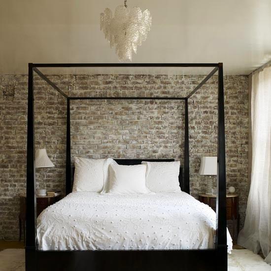 20 Wnętrz Sypialni Z Murem