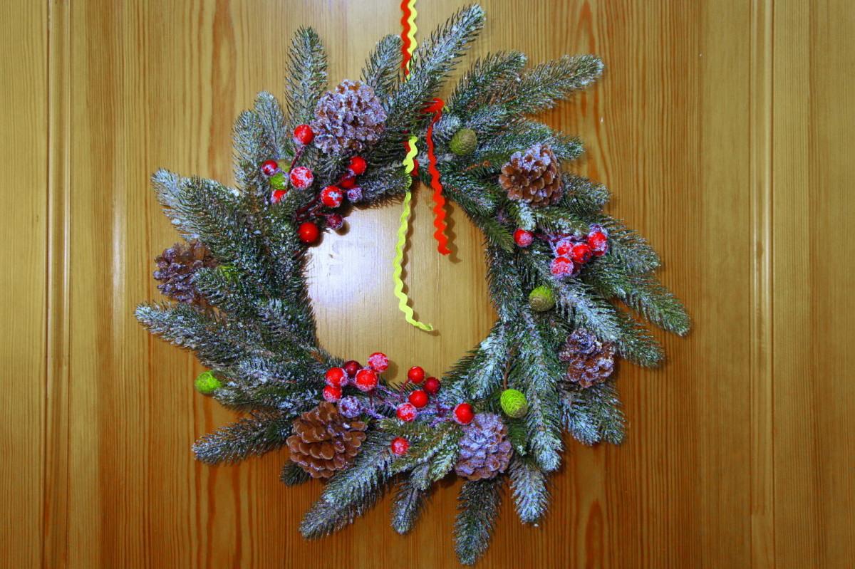 300468370 Vianočný venček s vlastnými rukami: majstrovská trieda od dizajnérky ...
