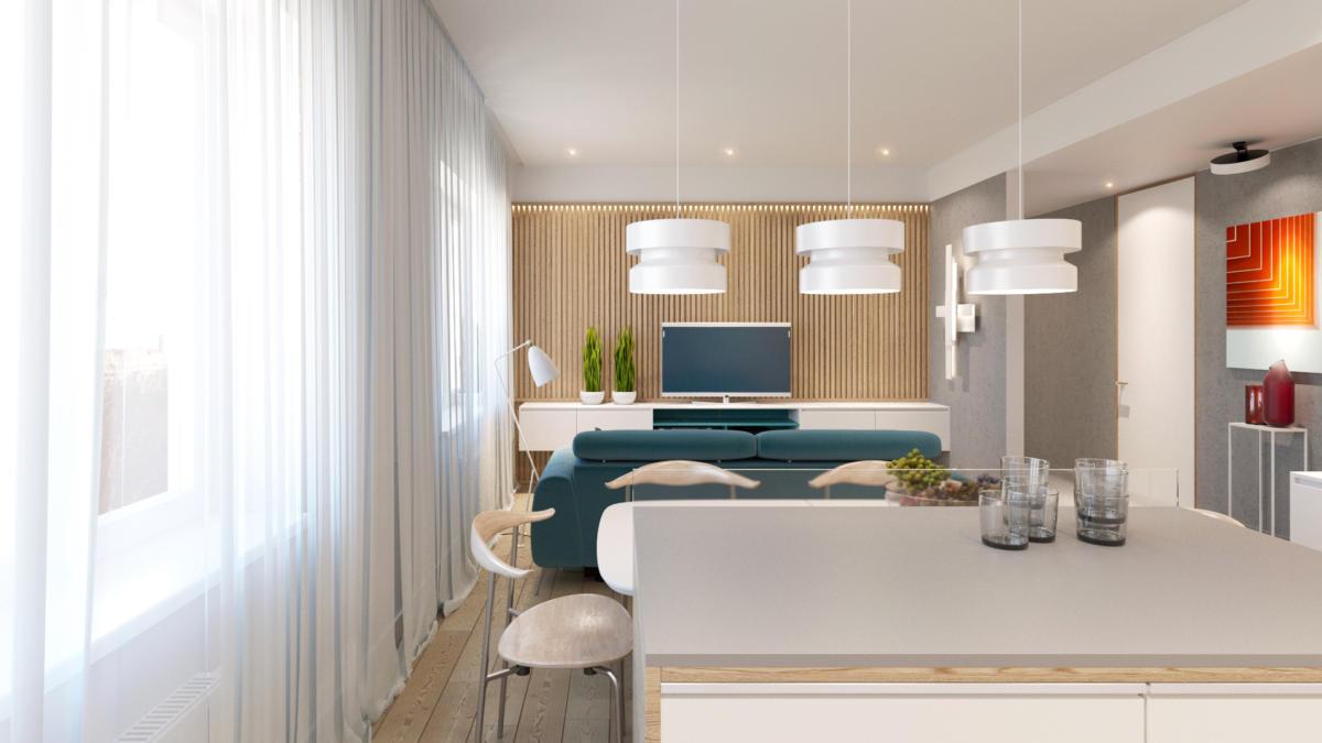 Дизайн квартиры трех комнатной