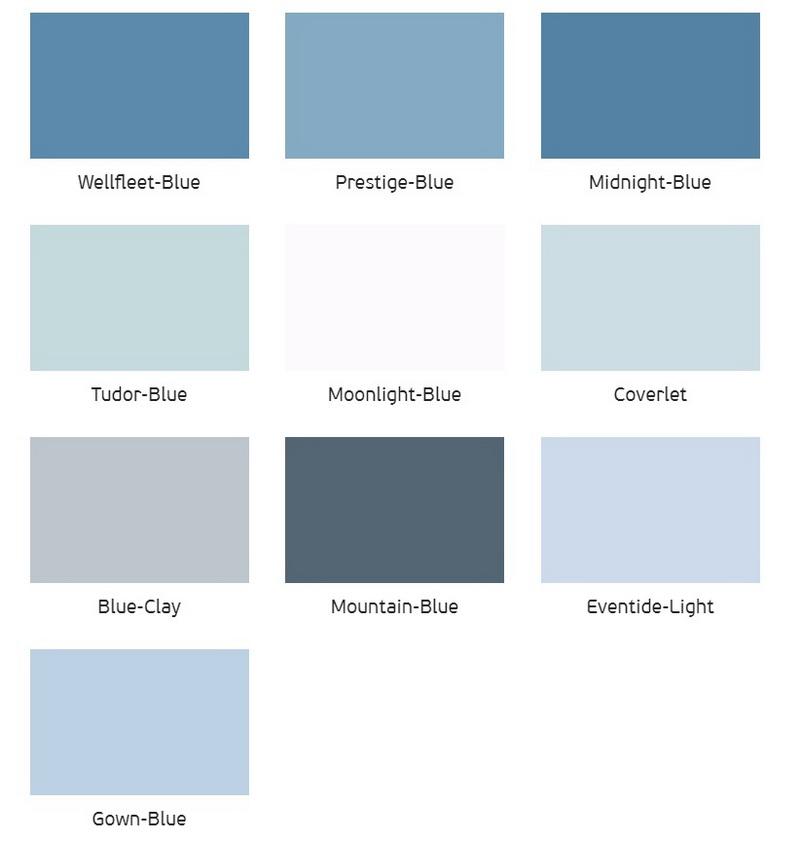 wandgestaltung mit farbe blau schattierungen, indigotapete im innenraum, Design ideen