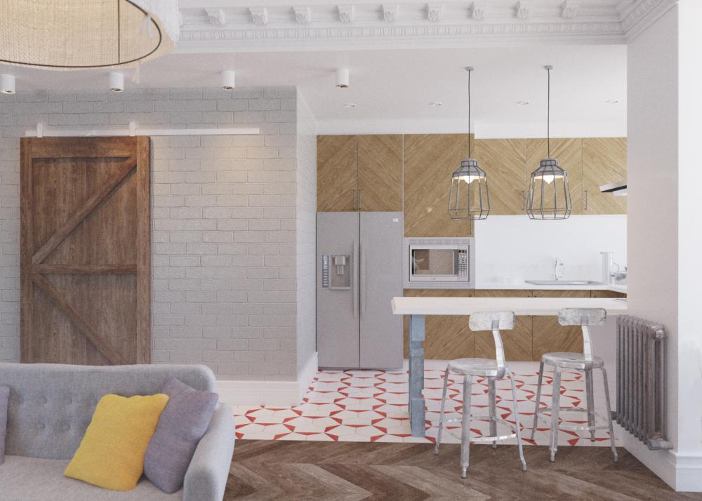 Evgeny Evdokimov, Designer, Architekt: U201eVom Kompakten 3 Zimmer Wohnung Ist  Ein Großes Studio Mit Wohnzimmer, Esszimmer Und Küche Auf Kosten Der Mit ...