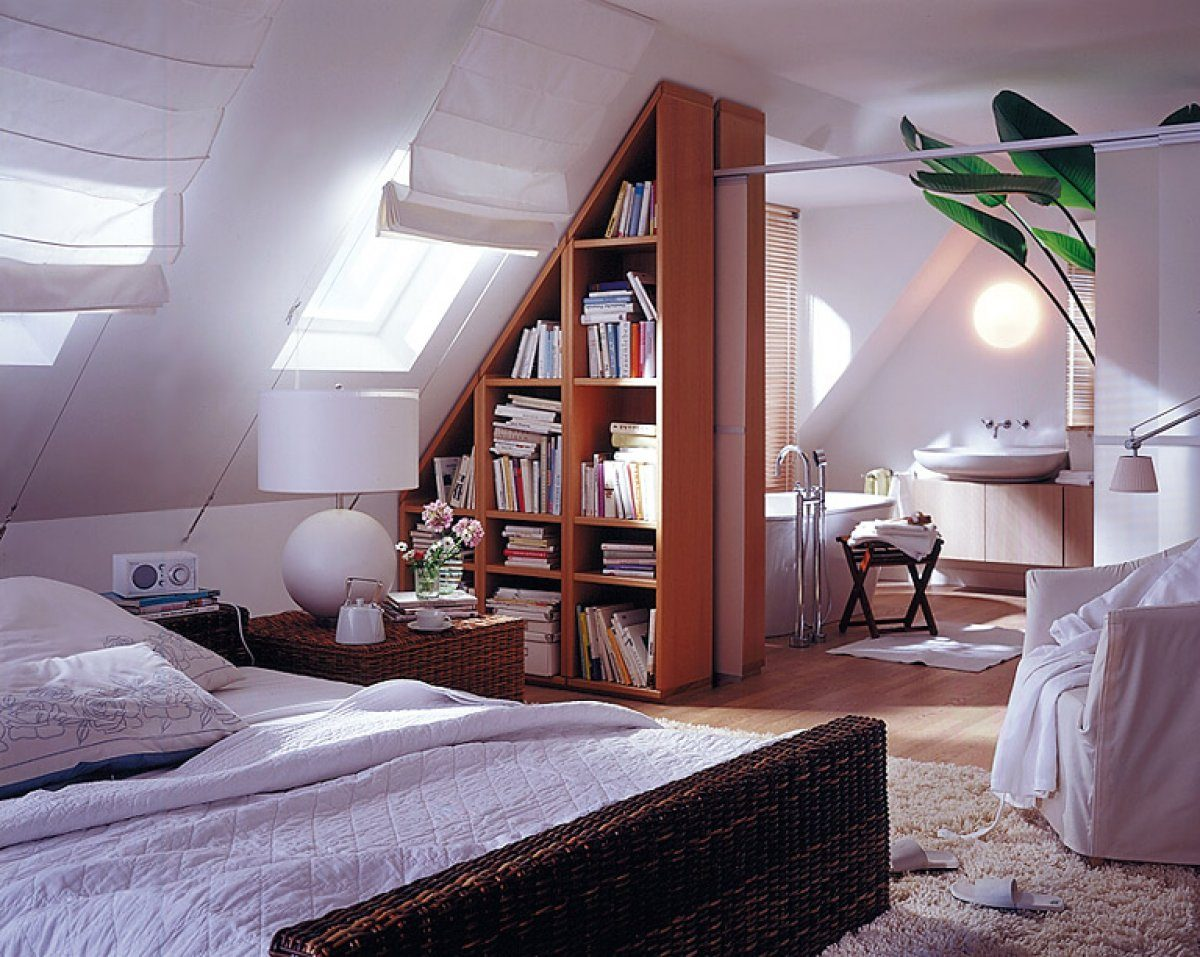 Комнаты с мансардной крышей дизайн