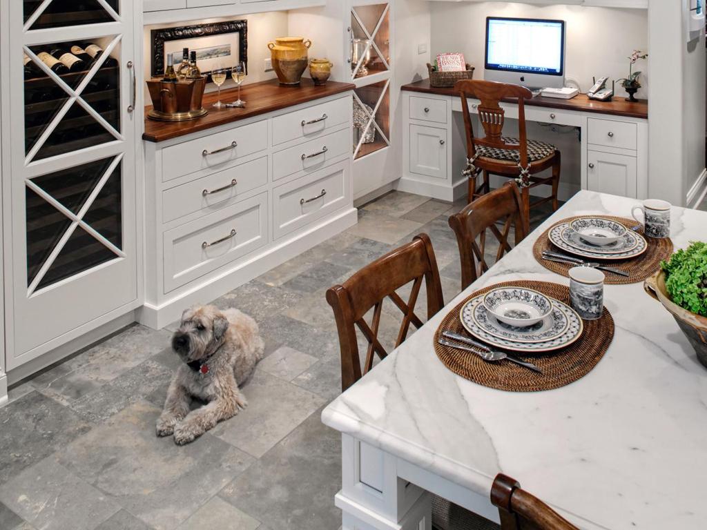 Wie man eine Küche ausstattet, wenn Sie Haustiere haben