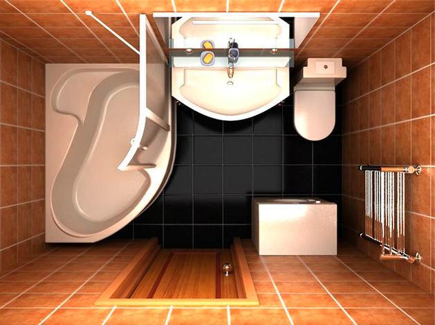 Фото дизайна ванны 5кв