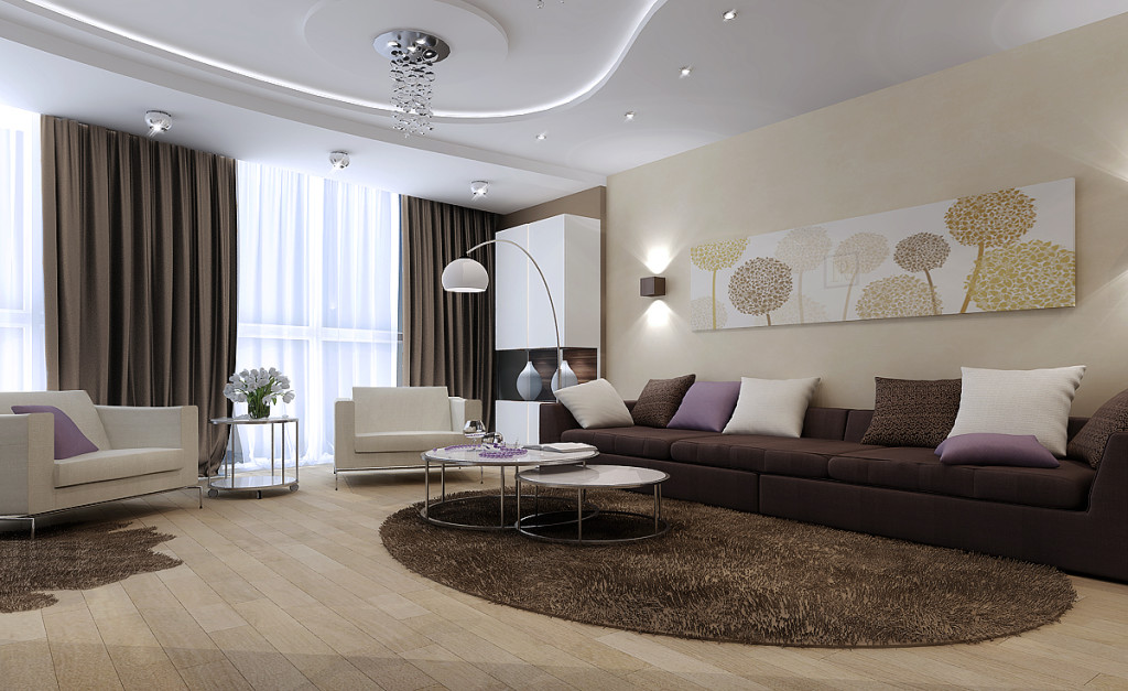 Design of large living room
