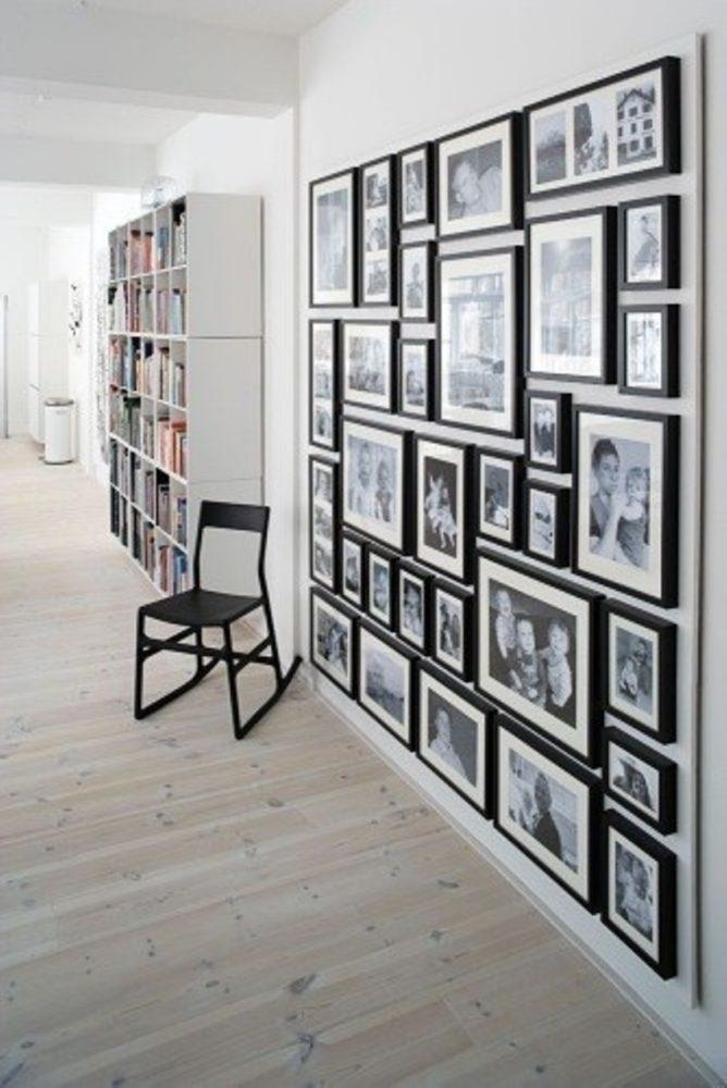 collage von fotos an der wand 20 beispiele. Black Bedroom Furniture Sets. Home Design Ideas