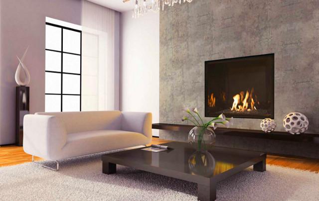 Opzioni di design per soggiorno con camino