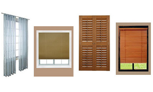 Varieties of window blinds