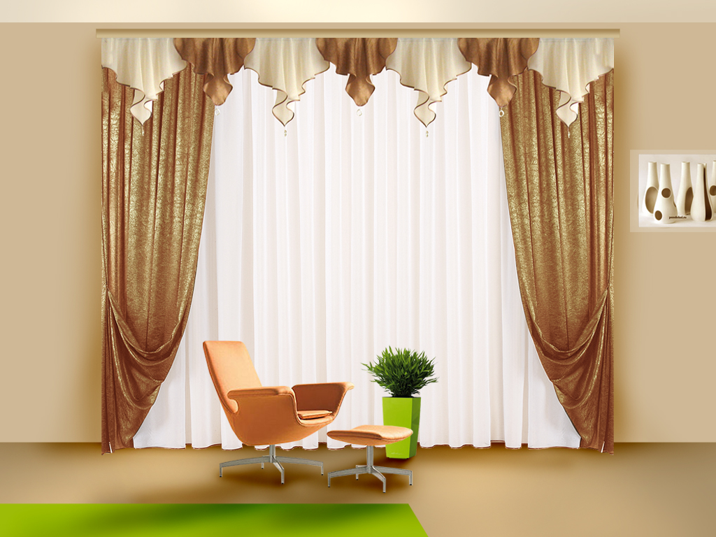 шторы дизайн для зала в картинках делать
