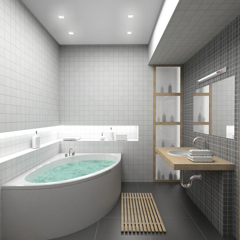 Wie man ein sehr kleines Bad ausrüstet: 10 Tipps mit Beispielen